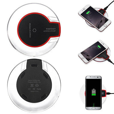 Qi Wireless Fast Charger Charging Dock Charging Pad For iPhone Samsung S6/S7Edge
