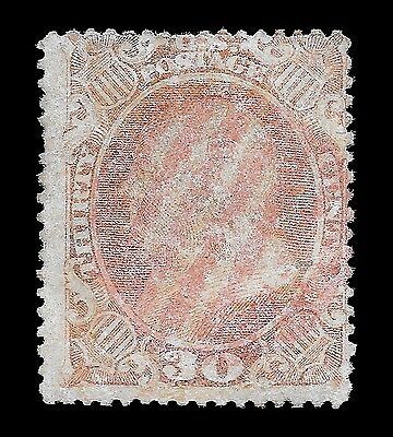 WCstamps: U.S. Scott #38 / $475 CAT - Used 30c Stamp Red Cancel, Weiss Cert