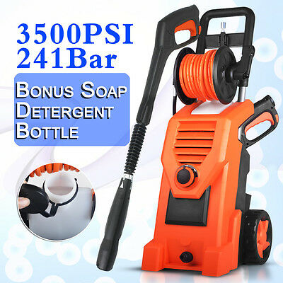 3500PSI Electric High Pressure Washer Water Cleaner Gurney Pump Hose Cleaning AU