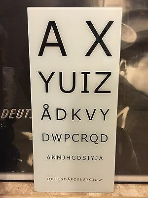 Rare AX YUIZ ADKVY eye chart display by AX