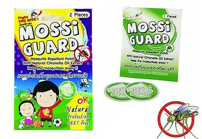 Mossi Guard Mosquito Repellent Patch Natural extract Kids Adult Child, DEET FREE