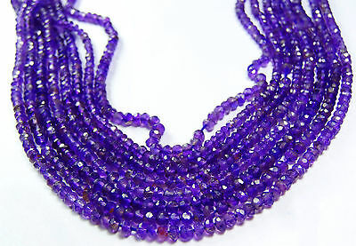 14inch SUPER AFRICAN AMETHYST Micro Faceted Rondelles BEADS  3 MM AAA