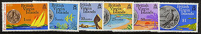 Virgin Islands 254-9 MNH Coins on Stamps, Birds, Yachts