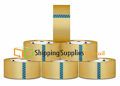 "36 Rolls Clear Box Carton Sealing Packing Tape Shipping - 1.75 Mil 2"" x 55 Yards"