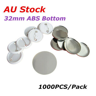 1000PCS 32mm Blank Pin Badge Button Supplies for Badge Maker Machine- ABS Bottom