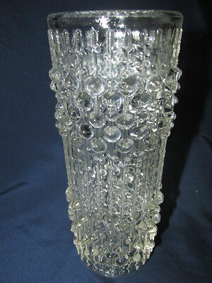 Glass Sklo Union Hermanova Hut Candle Wax Vase Czechoslovaki 18CmT