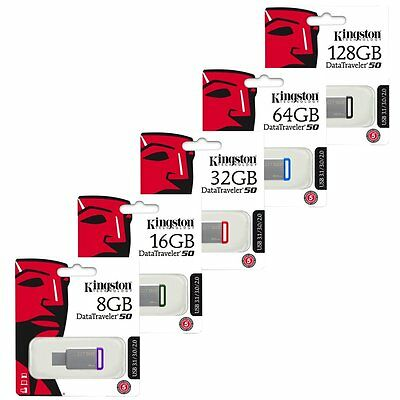 Kingston 8/16/32/64/128GB DataTraveler DT50 USB 3.0 Flash Drive Speicherstick