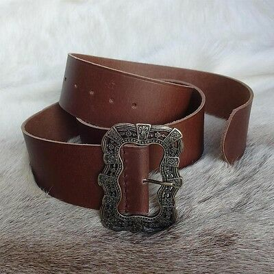 Wide Leather Long Waist Belt Perfect For LARP Costume Pirate etc