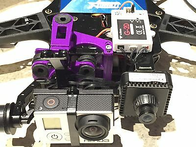 Walkera G-2D Brushless Gimbal mount for TBS Discovery.  3d Printed and dampened