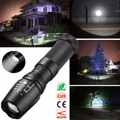 6000Lm Super Bright XML-T6 LED Flashlight Torch Zoomable 5 Mode Lamp Light UK
