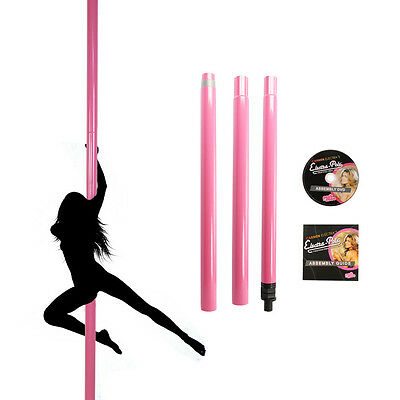 50mm Professional Static Pole Dancing Pole - Sport / Fitness Pink