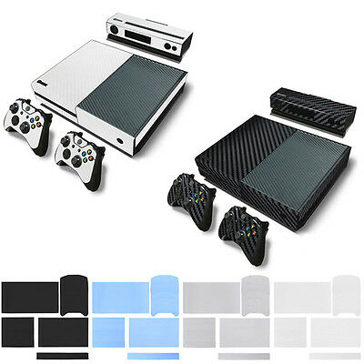 Full Set Carbon Fiber Decal Sticker Protector For XBOX ONE & 2 Controller Skins