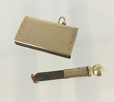 14ct GOLD RARE STRIKER LIGHTER IN THE FORM OF A BOOK *** 10.8 GRAMS ***