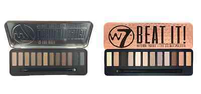 W7 In the Buff Lightly Toasted & Beat It Natural Nudes Eyeshadow Palette Set