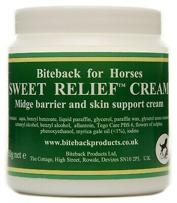 Biteback Horse SWEET RELIEF™ Sweet Itch Midge Repellent, Skin Support Cream 250g