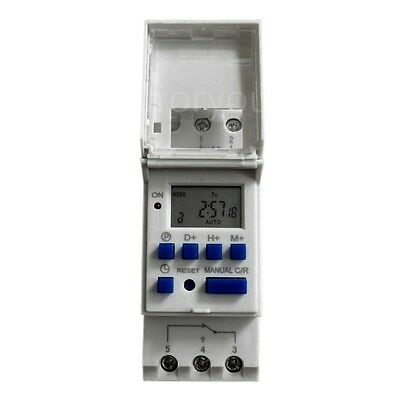 New DIN Rail Digital LCD Power Programmable Timer AC12V/50Hz Time Relay Switch