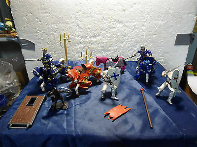 Papo knights horses figures LOT