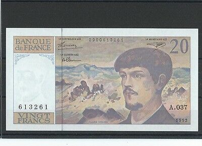 FRANCE - FAY 66bis/3 - 20 FRANCS DEBUSSY - 1992 - ALPHABET A036 - NEUF