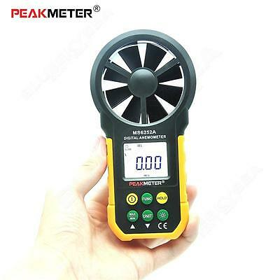 PEAKMETER AIMOMETER MS6252B USB Interface Temperature Humidity Anemometer LCD