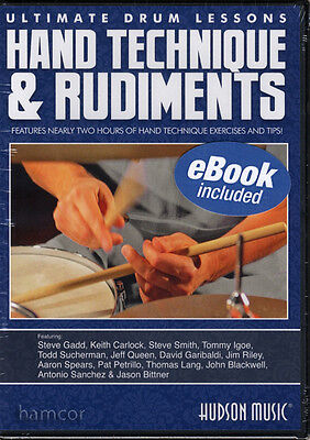 Hand Technique & Rudiments Ultimate Drum Lessons DVD Drumming Drummer Tuition
