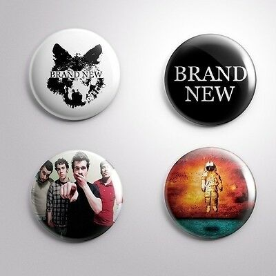 4 BRAND NEW- Pinbacks Badge Button Pin 25mm 1''