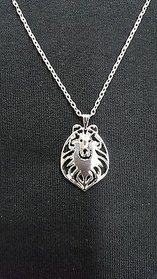 """Rough Collie Necklace, Pendant, Jewelry, 18"""" Chain"""