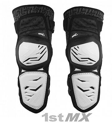 Leatt 3DF ENDURO Knee Guards White Motocross Off Road Adults Small Medium PAIR