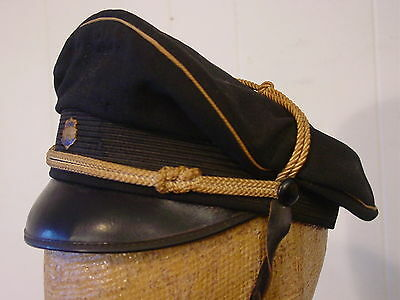 Vintage 1920s motorcycle cap biker's hat with pin WMC C Stag 29 size 7