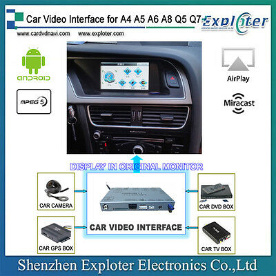 AUDI video interface built-in Android GPS for A4, A5, A6, A8, Q5, Q7, non-MMI