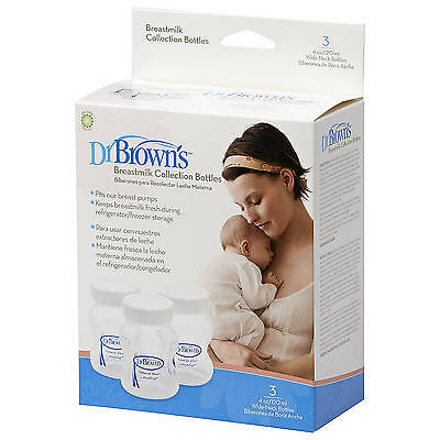 Dr Browns  Baby Breastmilk Collection & Storage Bottles 120ml/4oz 3 Pk