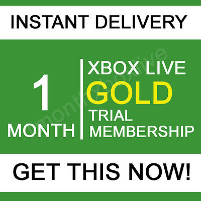 Xbox Live 1 Month Xbox Live Gold Membership Code - Instant
