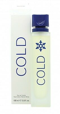 Sbc (Formerly Benetton) Cold For Men Eau De Toilette 100Ml Spray - Men's. New