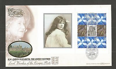 Benham 2000 The Queens Mother Booklet Pane's Set Of Fdc's Lot Gb213