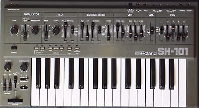 Roland Sh-101 Analogue Synthesizer & Power Supply