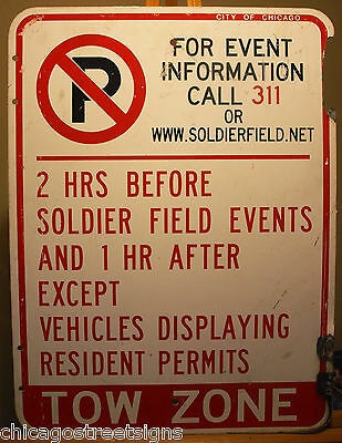 Chicago street road sign BEARS SOLDIER FIELD FOOTBALL - very rare