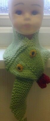 boys chunky neck snake scarf hand knitted