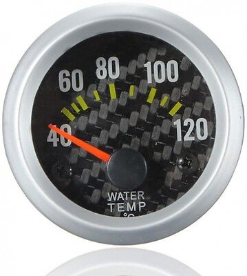 Water Temperature Celsius Gauge with Carbon Fiber Face Yellow LED