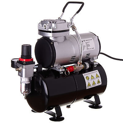 Professional Airbrush Compressor With Tank Filter Regulator Kit