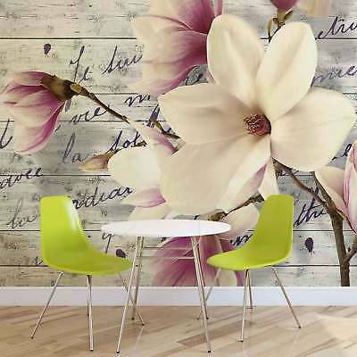 WALL MURAL PHOTO WALLPAPER XXL Flowers With Caption (2878WS)