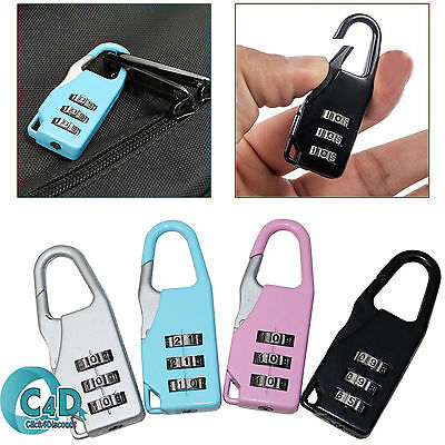 4Pcs Top Quality Combination Padlocks Luggage Suitcase Baggage Security Pad Lock
