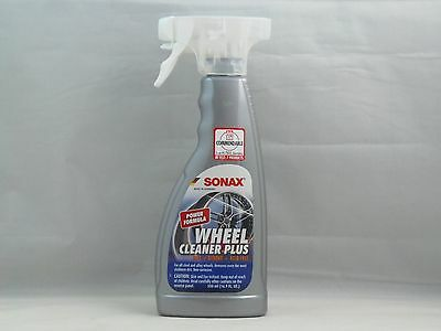 Sonax Wheel Cleaner Plus 16.9Oz Spray Fast Strong Alloy Chrome Painted Steel