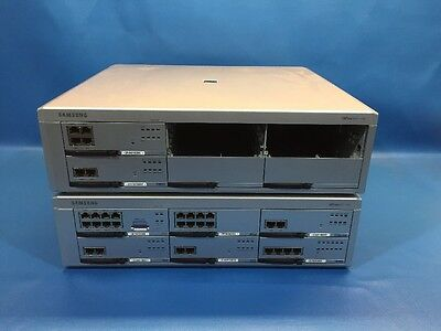 Lot Of 2 Samsung Officeserv 7200 With Cards