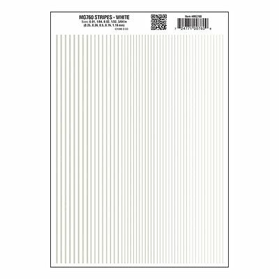 Stripes Dry Transfer Sheet, White Dt - Woodland Scenics MG760