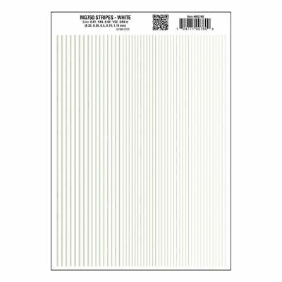 Stripes Dry Transfer Sheet, White Dt - Woodland Scenics WMG760