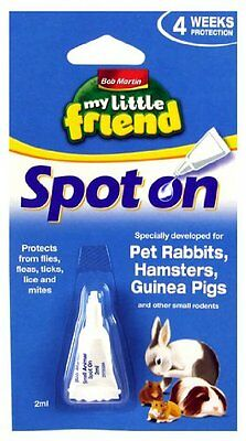 My Little friend Bob Martin Spot On Flea Treatment  Small Pets Hamsters Guinea
