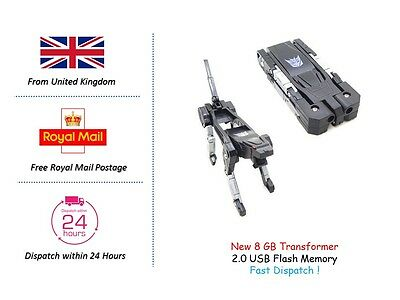 Hot 8 GB Transformers USB 2.0 Flash Memory Drive Stick Pen U-disk Novelty gift