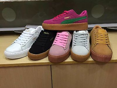New PumaS CREEPERings SUEDE Rihanna WMNS Creeper X for Men and Women shoes
