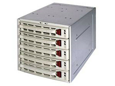 "Mobile Rack CSE-M35S 5x 3.5"" Hot-swap SCSI Hard Disk Drive Trays Beige"