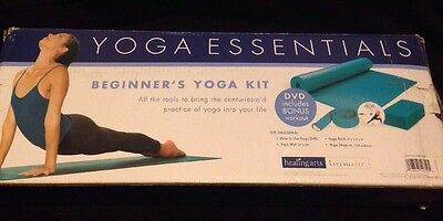 Beginners Yoga Essentials Kit: Includes Yoga Props and Workout DVD New in Box