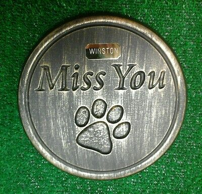 Dog or cat xl Large Pet Memorial/stone/grave marker/memorial with plaque